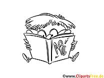 Malowanka uczeń do druku, dla dzieci