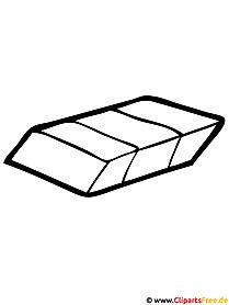 Malvorlage für Schule Radiergummi