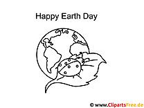 Marienkäfer Tag der Erde Ausmalbild