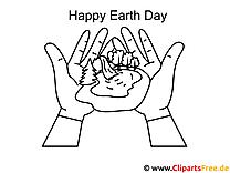 Natur Tag der Erde Ausmalbild