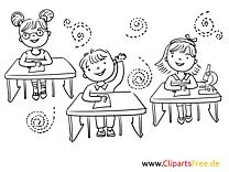 Schulklasse Malvorlagen-Ausmalbilder zum Thema Schule