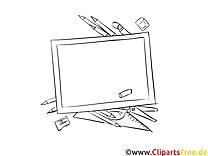 Schultafel Bild, Malvorlage, Ausmalbild kostenlos