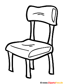Stuhl Bild - Ausmalbild kostenlos