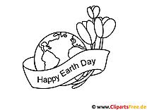 Tag der Erde gratis Bilder zum Ausmalen