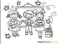 Uczniowie kolorowanka szkoła do druku, dla dzieci