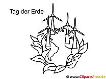 Windmühlen Tag der Erde Ausmalbilder