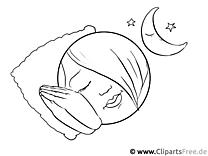 Schlaf Bild zum Ausmalen
