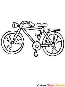 Fahrrad Malvorlage - kostenlose Malvorlagen fuer Kinder