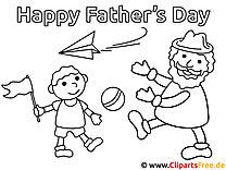 Malvorlage zum Vatertag - Ausmalbilder für Kinder